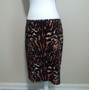 Talbots animal print pencil skirt